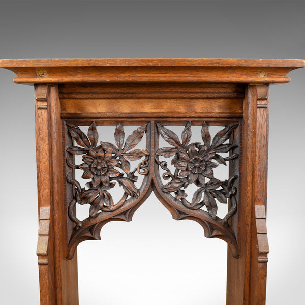 Antique Lectern, Carved, English, Oak, Stand, Ecclesiastical Gothic, Pugin c1880 - London Fine Antiques