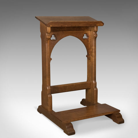 Antique Lectern, Oak, Prayer, Book, Music Stand, Scottish, Gothic Circa 1880