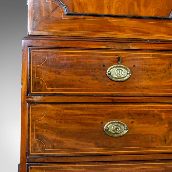 Antique Linen Press, English, Georgian, Housekeeper's Cupboard, Circa 1780 - London Fine Antiques