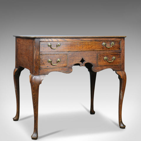 Antique Lowboy, English, Georgian, Oak, Side Table, 18th Century Circa 1780 - London Fine Antiques