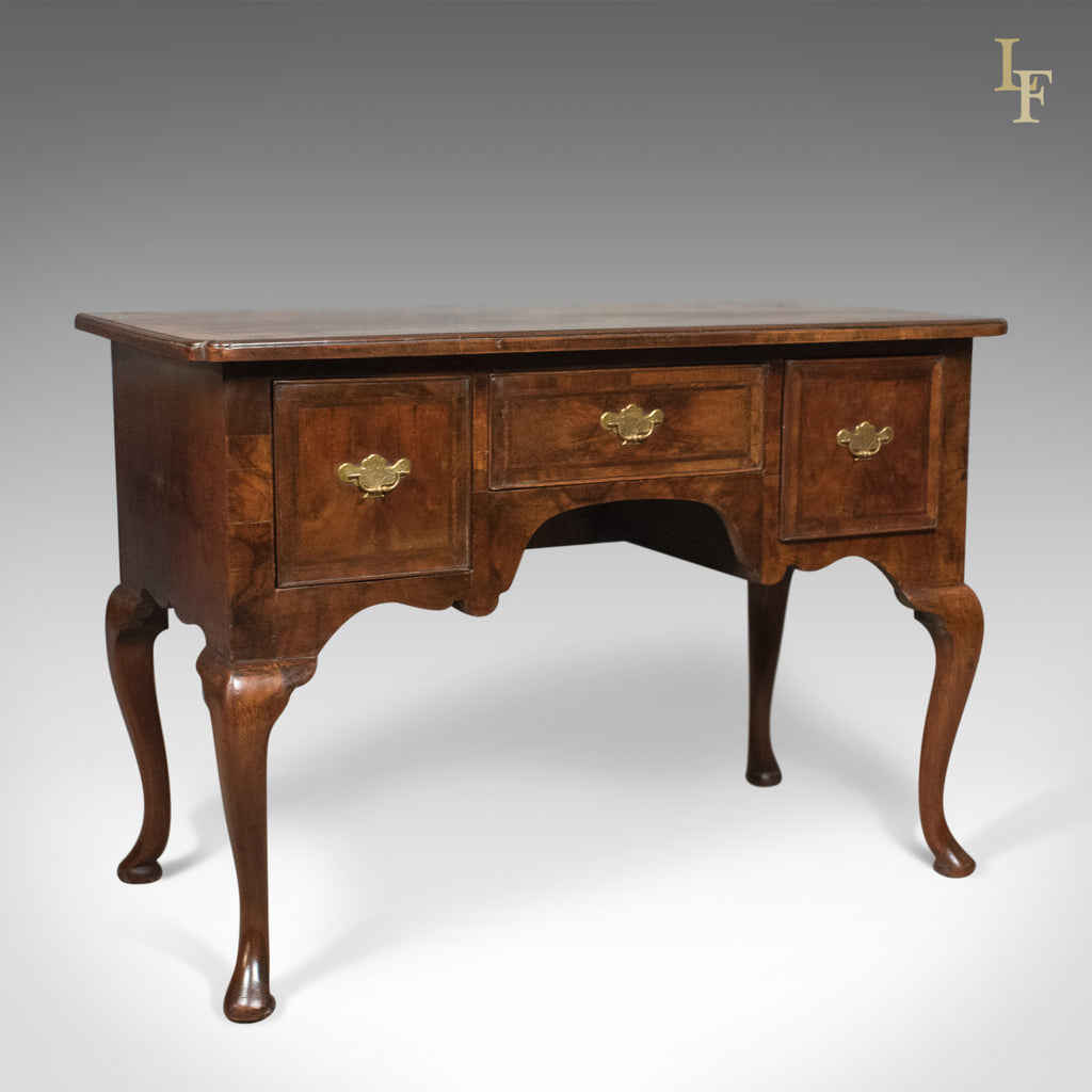 Antique Lowboy, English, Late Georgian, Walnut, Desk, Table c.1800 - London Fine Antiques