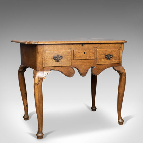 Antique Lowboy, English, Late Victorian, Oak Table, Circa 1900 - London Fine Antiques