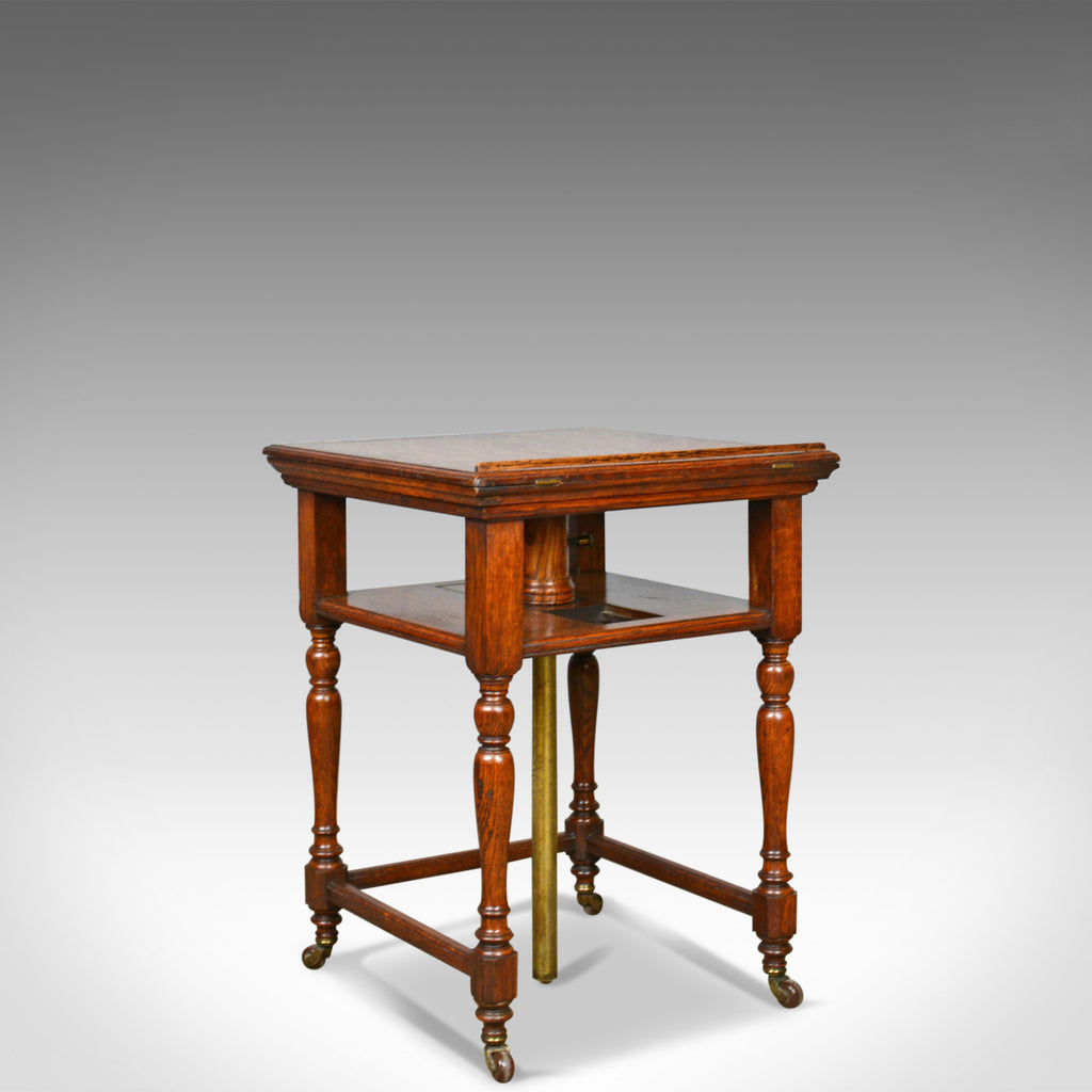 Antique, Metamorphic, Side Table, Lectern, Oak, Library, Reading Circa 1860