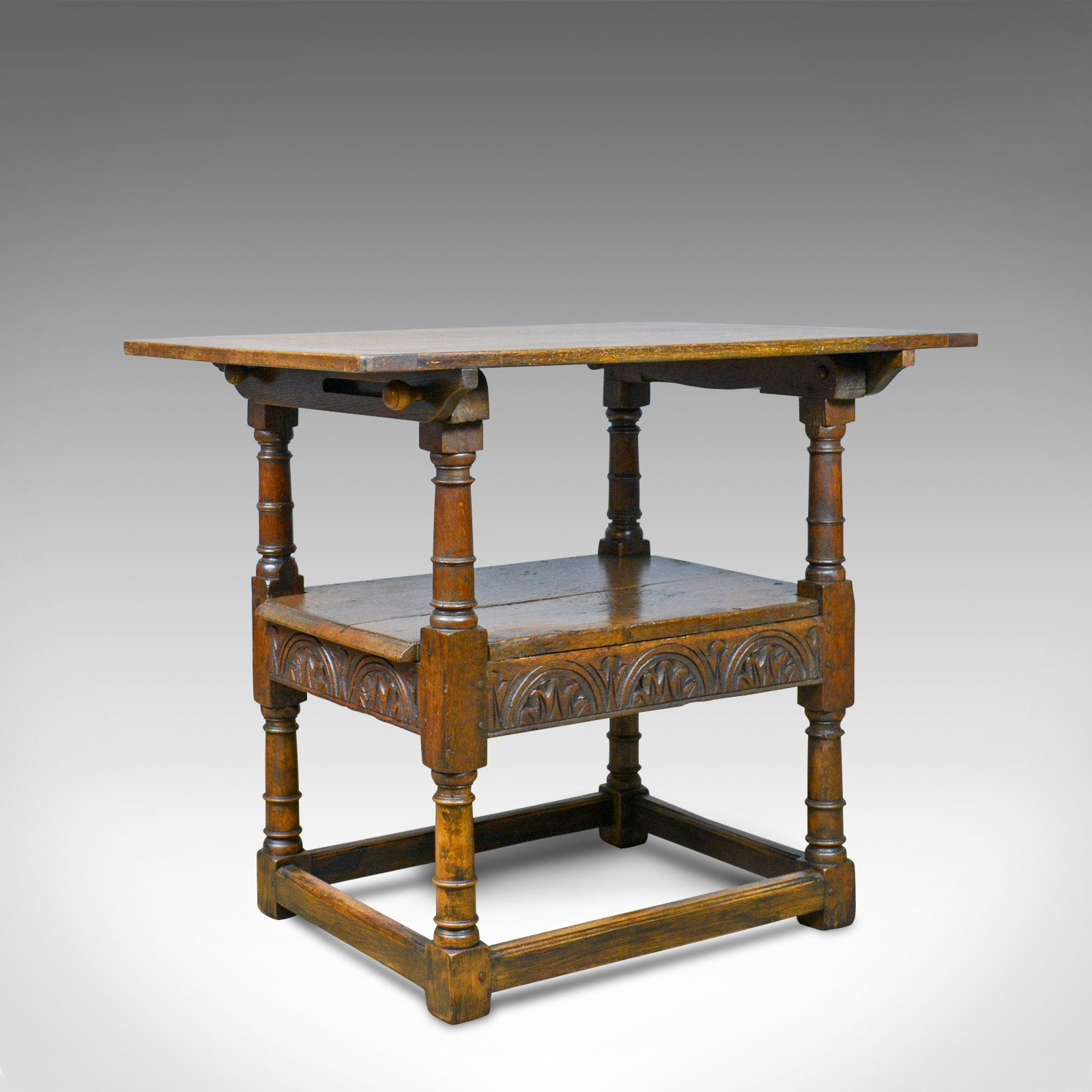 Antique Monk S Bench Metamorphic Table Chair English Oak C18th And Later Ebay