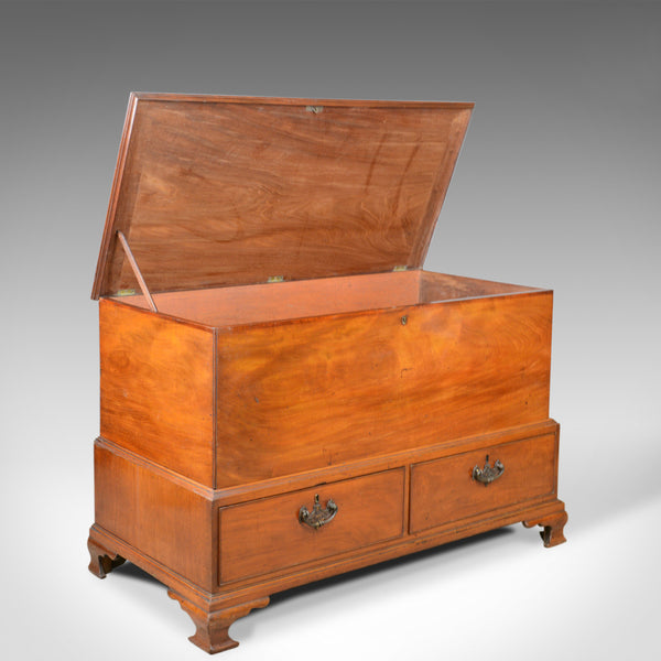 Antique, Mule Chest, English, Georgian Housekeepers Trunk, Mahogany, Circa 1780 - London Fine Antiques