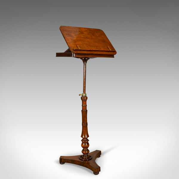 Antique Music Stand, English, Regency, Adjustable, Rosewood, Lectern Circa 1820 - London Fine Antiques