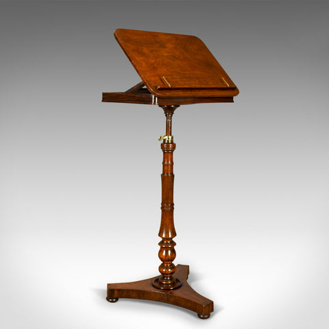 Antique Music Stand, English, Regency, Adjustable, Rosewood, Lectern Circa 1820