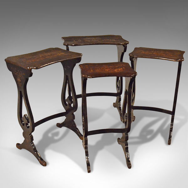Antique Nest Of Tables, Four Chinoiserie Side Tables, 19th Century, Circa 1890 - London Fine Antiques