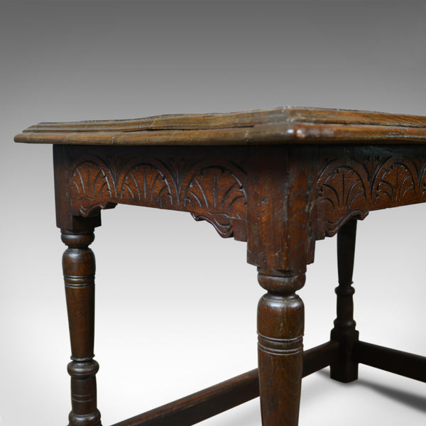 Antique Oak Console Table, English, Jacobean Revival, Refectory, C18th and Later - London Fine Antiques