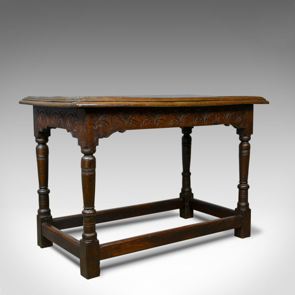 Terrific Antique Oak Console Table English Jacobean Revival Refectory C18Th And Later Andrewgaddart Wooden Chair Designs For Living Room Andrewgaddartcom