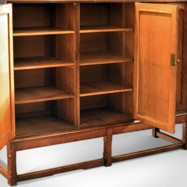 Arts & Crafts Oak Larder Antique Cabinet, c.1900 - London Fine Antiques
