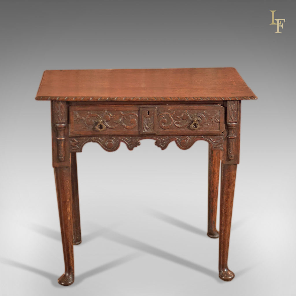 Antique Lowboy, Georgian Oak Table, c.1750 - London Fine Antiques