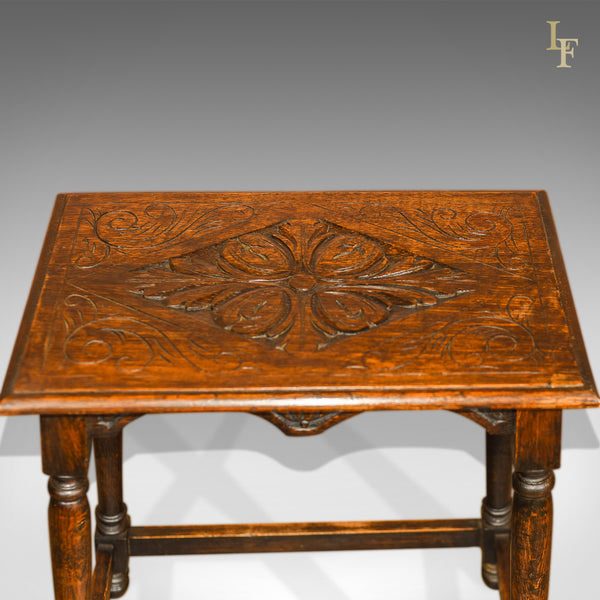 Antique Occasional Table, Late Victorian Oak c.1890 - London Fine Antiques