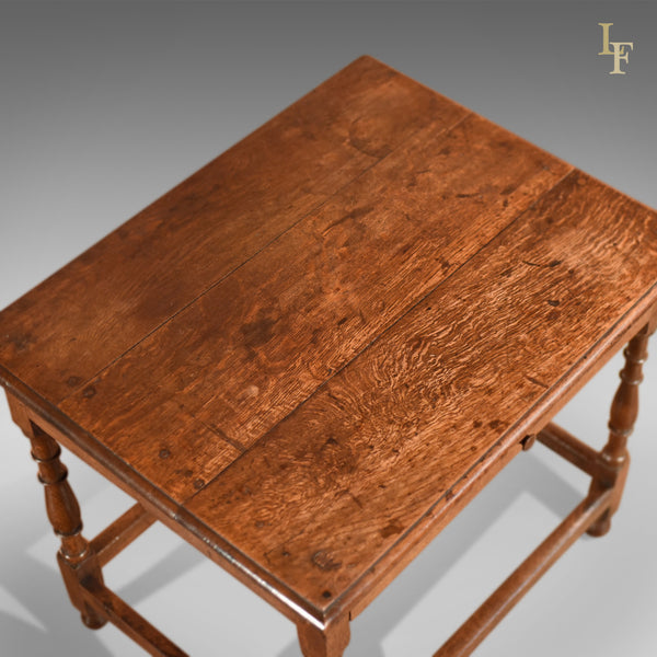 Antique Occasional Table, Victorian Oak c.1850 - London Fine Antiques