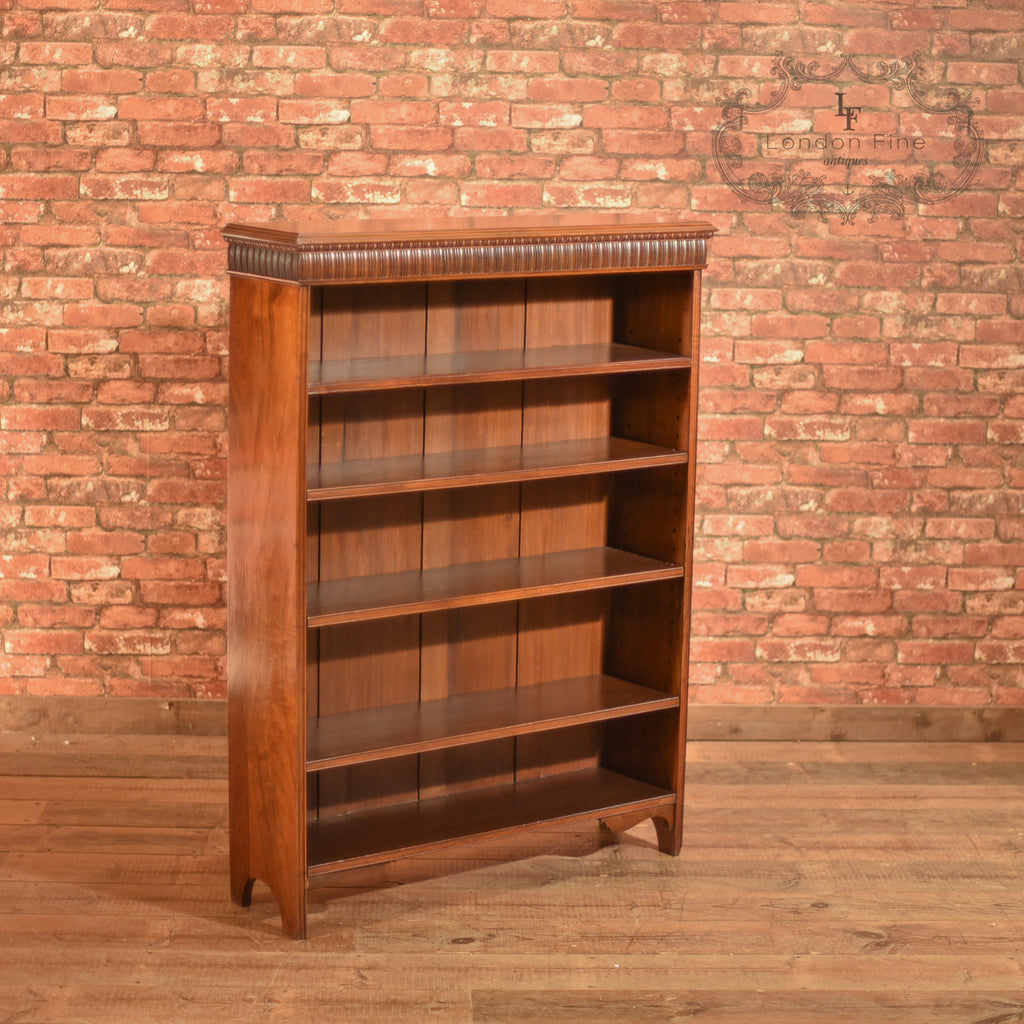 Late Victorian, Walnut, Open Book Shelf, c.1900 - London Fine Antiques