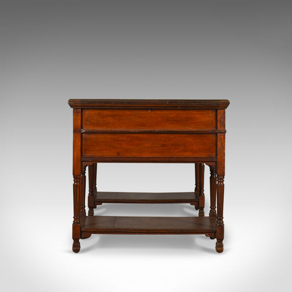 Antique Open Pedestal Desk, English Walnut, W Walker and Sons, London Circa 1870 - London Fine Antiques