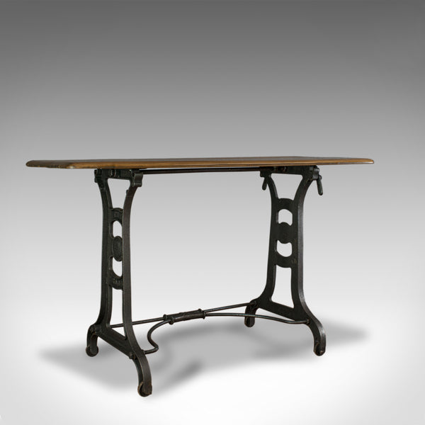 Antique Orangery Table, English, Industrial, Machinist, Victorian, Side C.1900 - London Fine Antiques