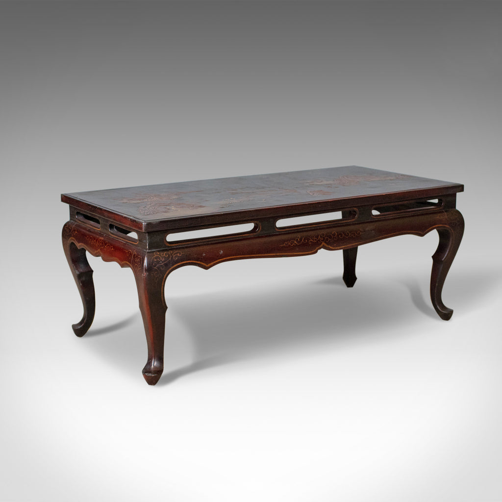 Antique Oriental Coffee Table, Low, Lacquered, Side, Edwardian, Circa 1910 - London Fine Antiques