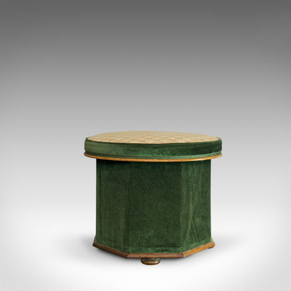 Antique Ottoman Stool, Victorian, Dressing, Storage, Circa 1880 - London Fine Antiques