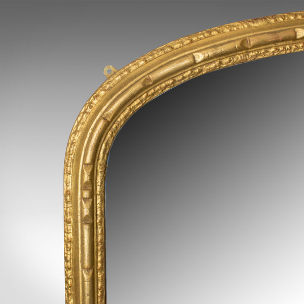 Antique Overmantel Mirror, English, Georgian Dome Top, Wall, Giltwood Circa 1800 - London Fine Antiques