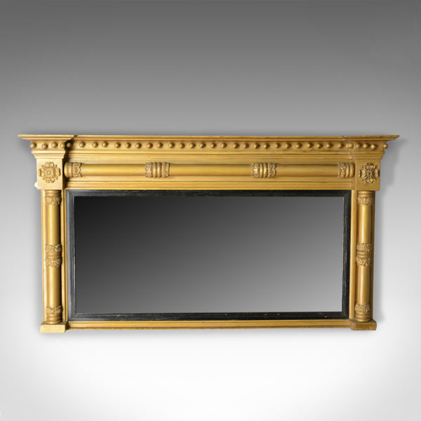 Antique Overmantel Mirror, English, Georgian, Giltwood Gesso, Wall, Circa 1800 - London Fine Antiques