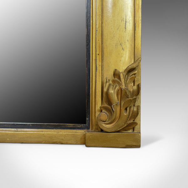 Antique Overmantel Mirror, English, Georgian, Wall, Giltwood, Gesso, Circa 1800 - London Fine Antiques