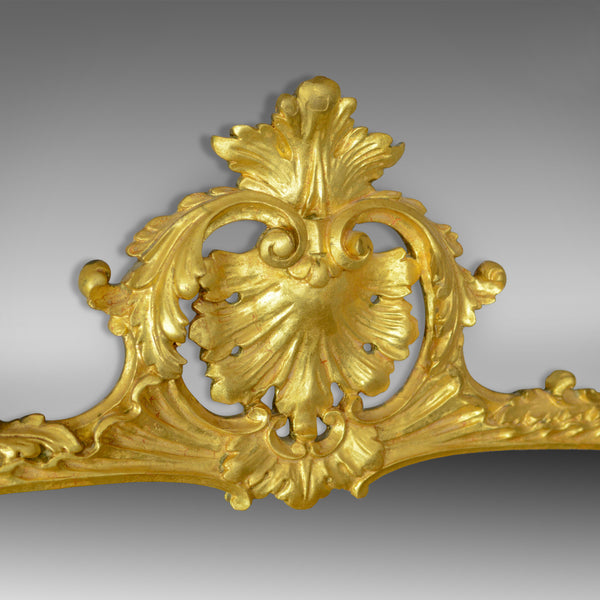 Antique Overmantel Mirror, English, Giltwood, Wall, Triptych, Circa 1920 - London Fine Antiques
