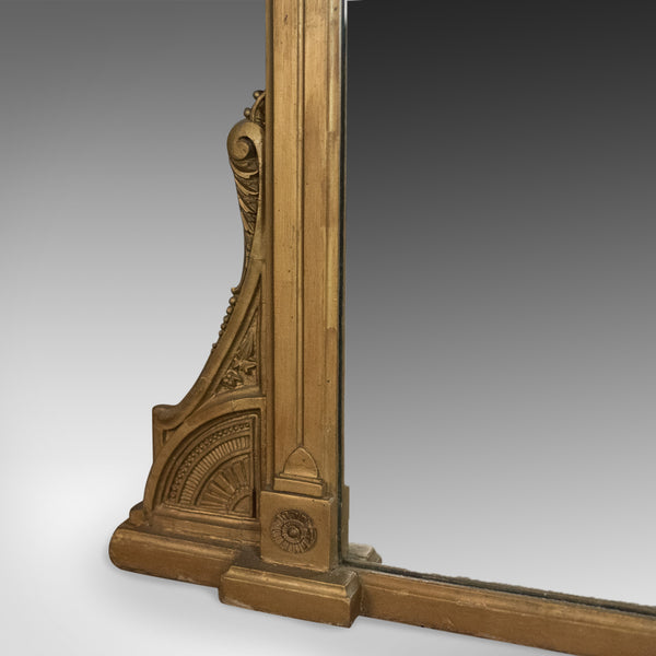 Antique Overmantel Mirror, English Victorian, Classical Revival, Wall Circa 1880 - London Fine Antiques