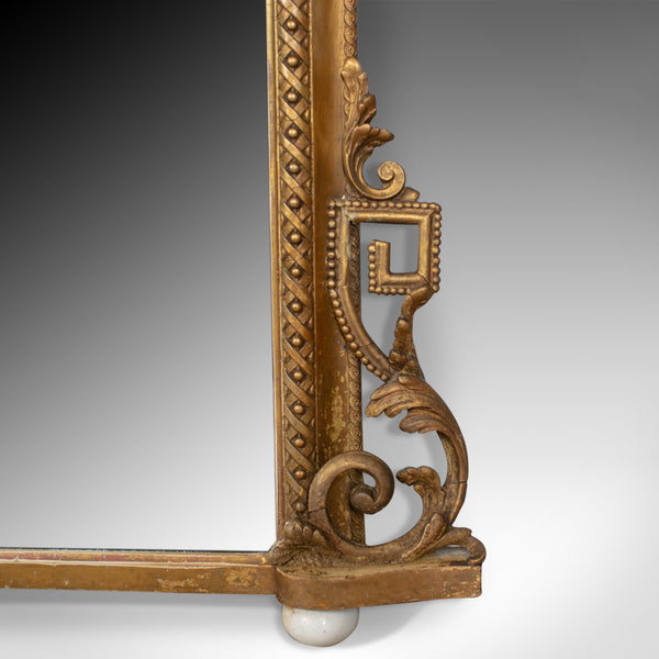 Antique Overmantel Mirror, Mid-Sized, English Regency, Wall, Giltwood Circa 1820 - London Fine Antiques