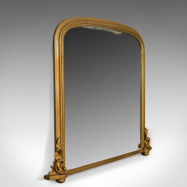 Antique Overmantel Mirror, Mid-Sized, English, Victorian, Wall, Circa 1850 - London Fine Antiques