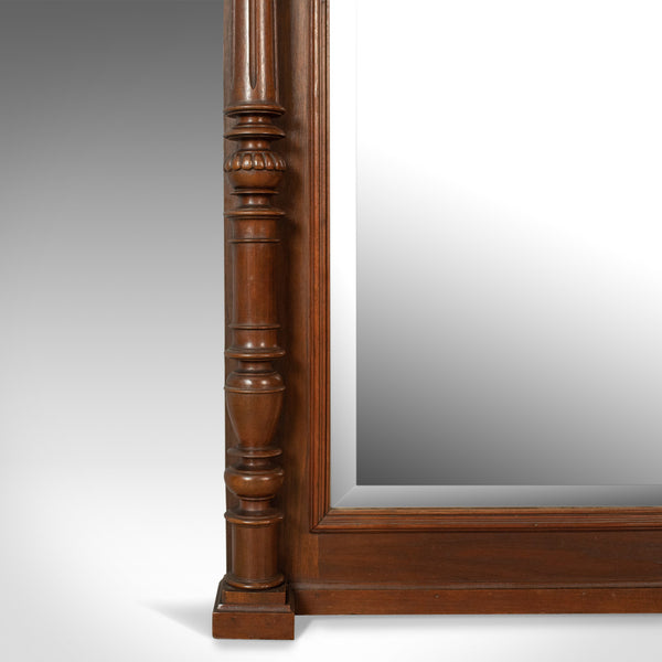Antique Overmantel Mirror, Victorian, Classical Revival, Wall, Walnut Circa 1880 - London Fine Antiques