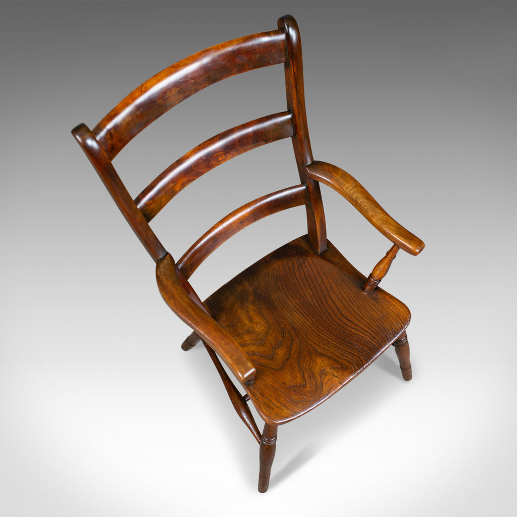 Antique Oxford Elbow Chair, Victorian, Windsor, Lath Back ...