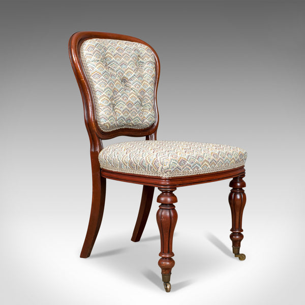 Antique Pair of Chairs, William IV, Mahogany, Button Back, Parlour, Side c.1835 - London Fine Antiques