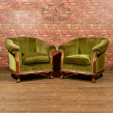 A Pair of French Art Deco Armchairs, c.1930 - London Fine Antiques
