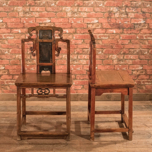 Pair of Chinese Hall Chairs, c.1900 - London Fine Antiques - 2