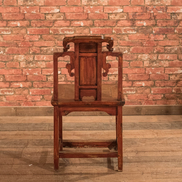 Pair of Chinese Hall Chairs, c.1900 - London Fine Antiques - 5