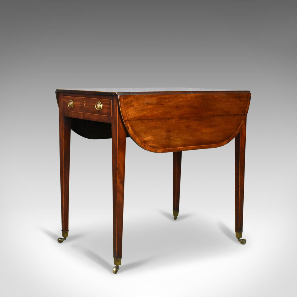 Antique, Pembroke Table, English, Georgian, Mahogany Side Hepplewhite Circa  1795   London