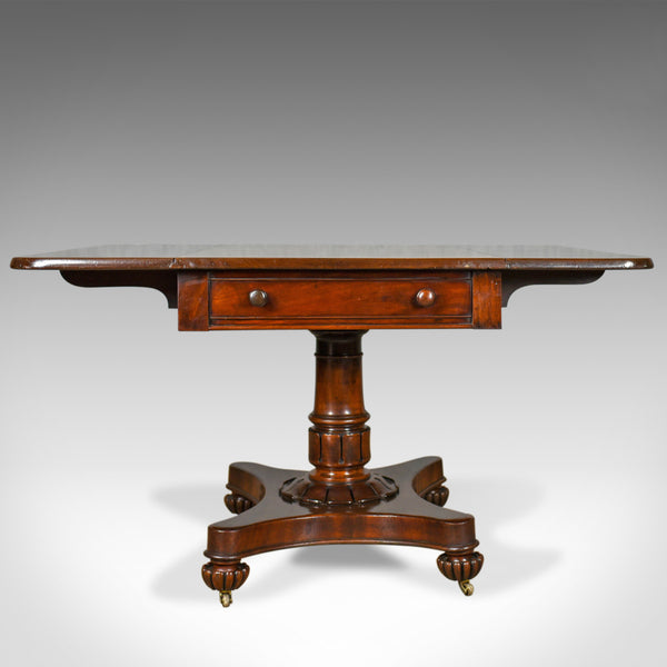 Antique Pembroke Table, English, William IV, Mahogany, Sofa, Circa 1835 - London Fine Antiques