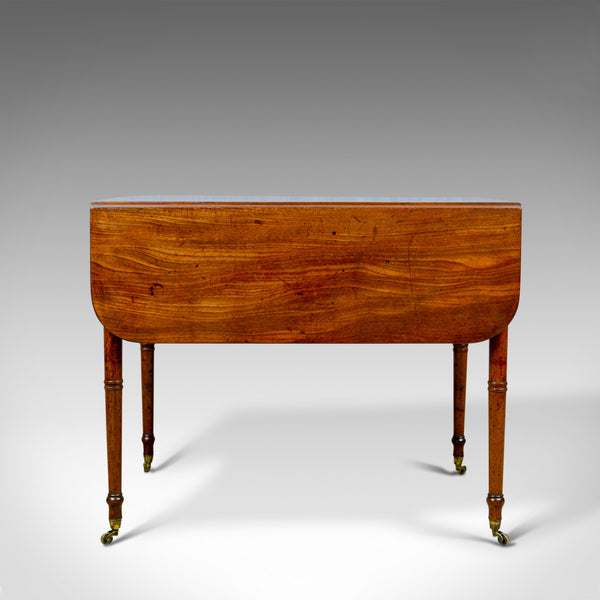 Antique Pembroke Table, Mahogany, English, Regency, Drop Flap Dining Circa 1820 - London Fine Antiques