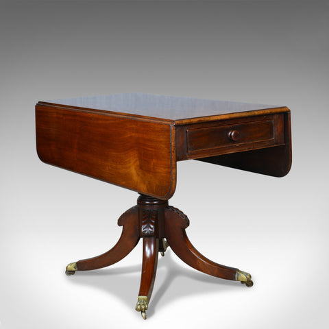 Antique Pembroke Table, Mahogany, English, Regency, Drop Flap, Circa 1820 - London Fine Antiques
