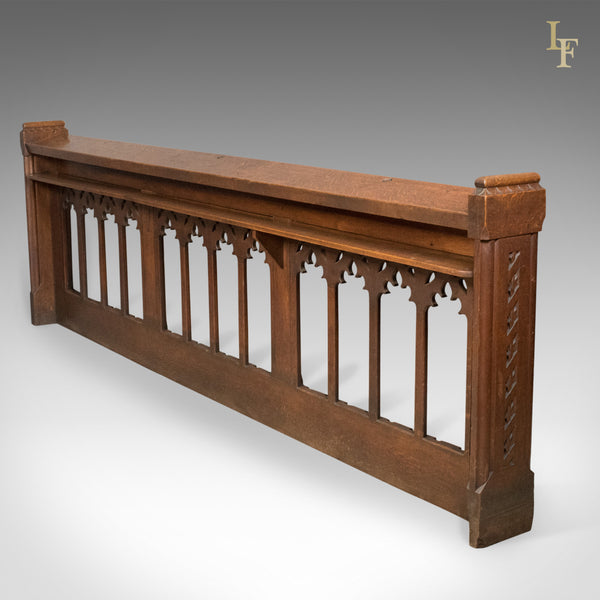 Antique Pew Front, Gothic Choir Stall, Victorian, English, Pugin Overtones c.1880 - London Fine Antiques