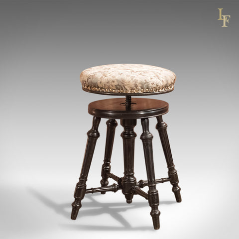 Antique Piano Stool, Aesthetic Period c1880 - London Fine Antiques