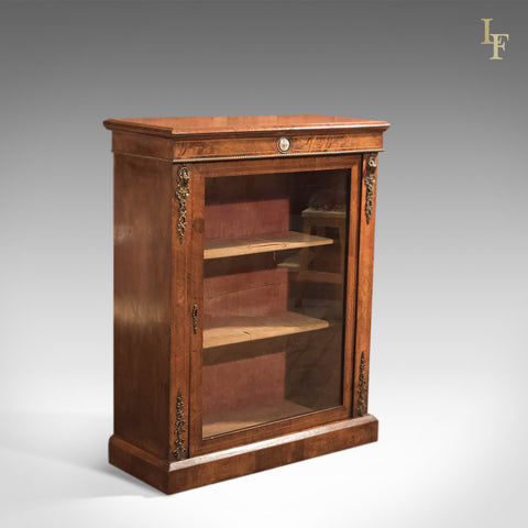 Antique Pier Cabinet, French Walnut c1880 - London Fine Antiques
