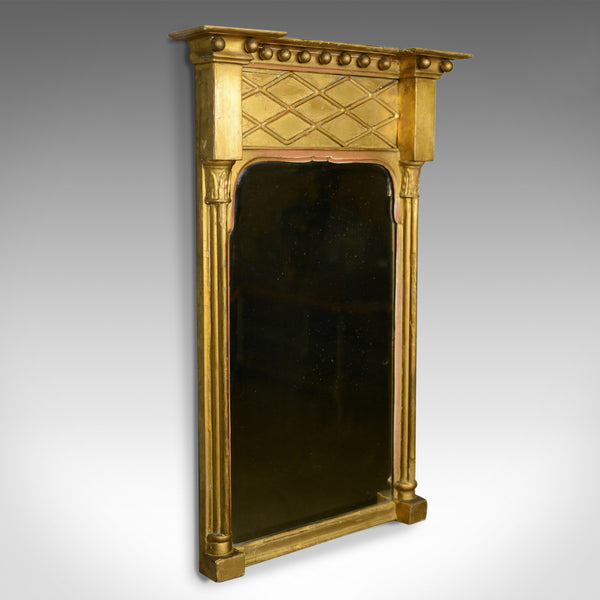 Antique Pier Mirror, English, Regency, Giltwood, Gesso, Wall, Circa 1820 - London Fine Antiques
