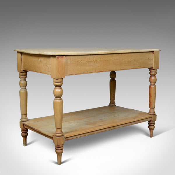 Antique Pine Console Table, English, Victorian, Kitchen, Work, Circa 1880 - London Fine Antiques