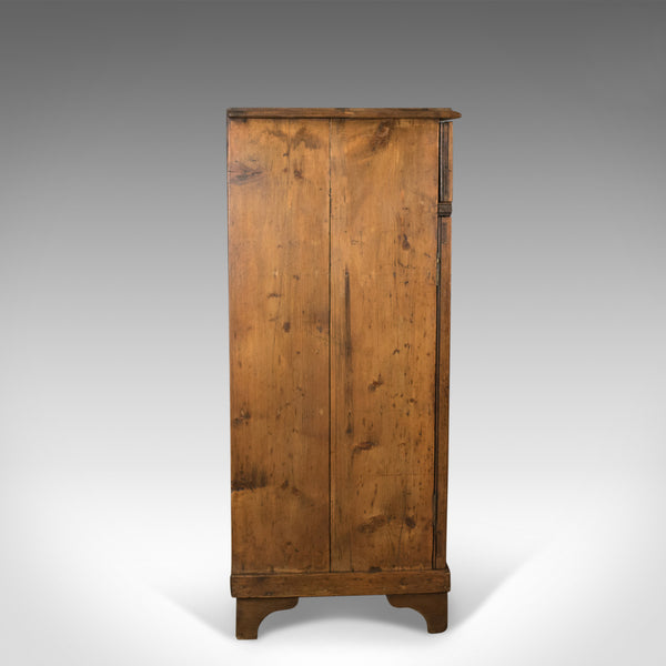 Antique Pine Cupboard, English, Victorian, Cabinet, Pitch Pine Circa 1880 - London Fine Antiques