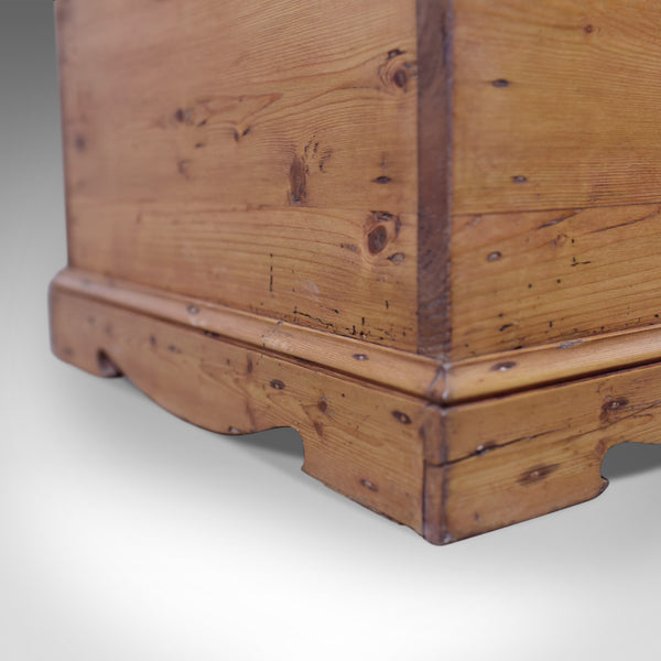 Antique Pine Trunk, English, Victorian Blanket Chest, Circa 1900 - London Fine Antiques