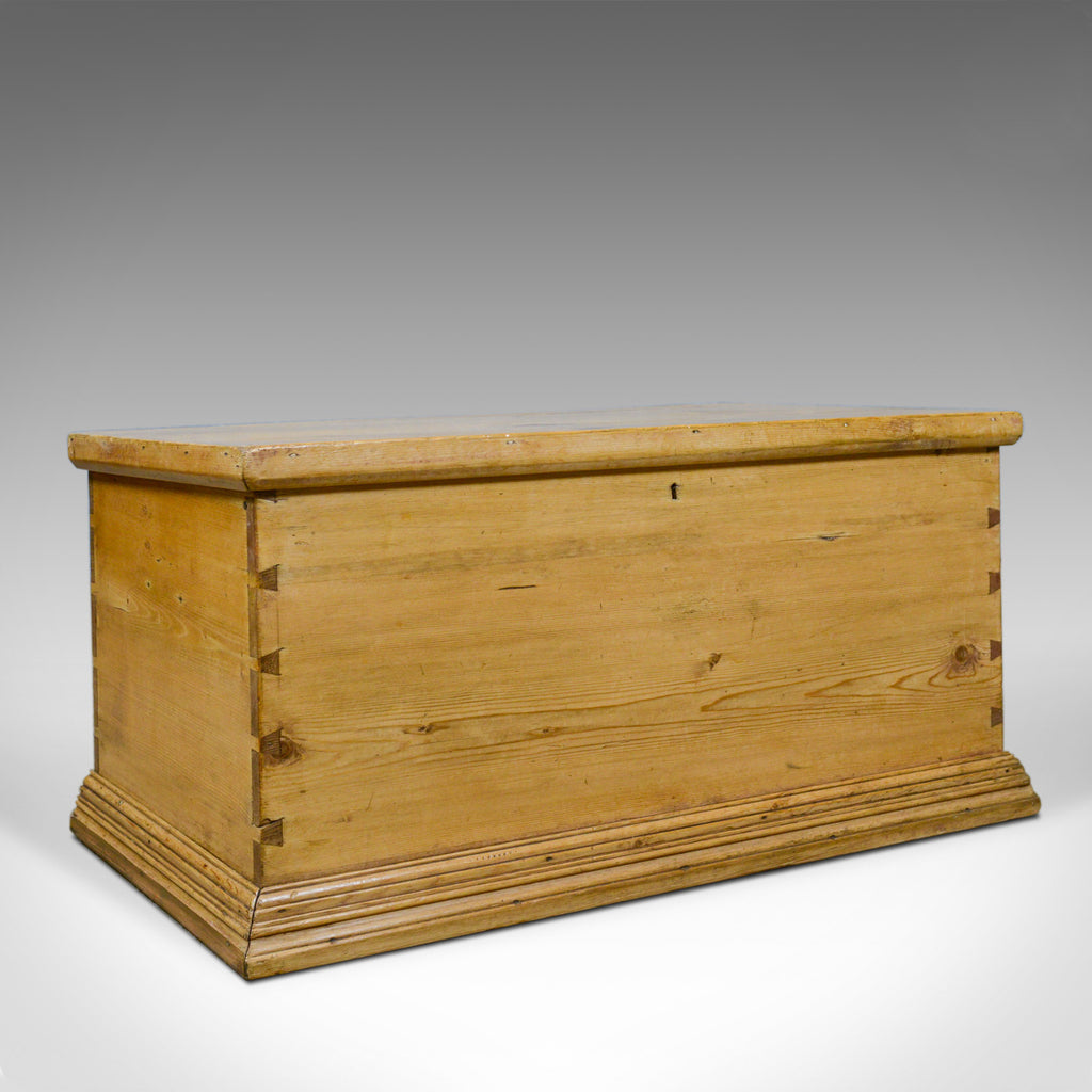 Antique Pine Trunk, English, Victorian, Blanket, Carriage Chest, Box, Circa 1880 - London Fine Antiques