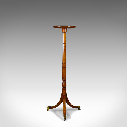 Antique Plant Stand, English, Regency, Torchere, Mahogany, Circa 1810