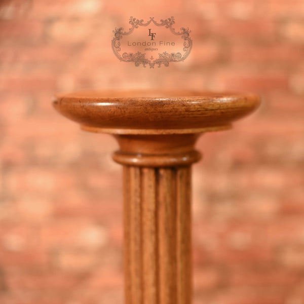 Late Victorian Walnut Torchere, Plant Stand c.1900 - London Fine Antiques